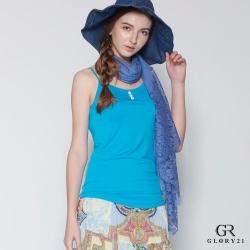 GLORY21 細肩帶背心_藍