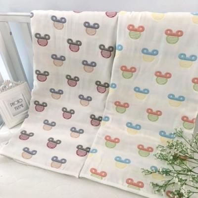 【優貝選】米奇多功能純綿柔軟嬰幼兒六層紗 布巾空調毯包巾