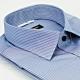 【金安德森】深藍底白條紋黑釦窄版短袖襯衫 product thumbnail 1