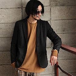 彈性素面休閒西裝外套(3色) ZIP日本男裝