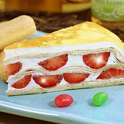 滿2件-塔吉特-草莓多千層蛋糕-8吋