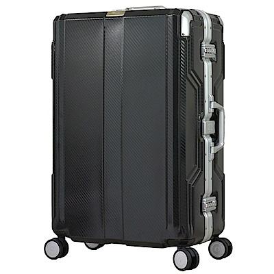 日本LEGEND WALKER 6720-62-25吋發光圓環把手行李箱非洲黑