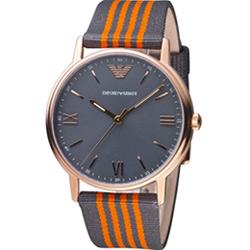 Emporio Armani 羅馬時標休閒腕錶(AR11014)43mm