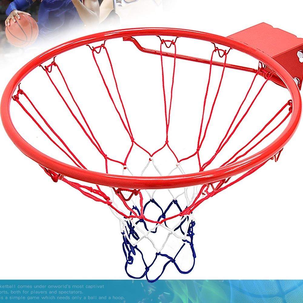 標準18吋金屬籃球框(含籃網)(標準籃框架/耐用籃筐架子籃球網Basketball hoop金屬籃架不含籃球板)