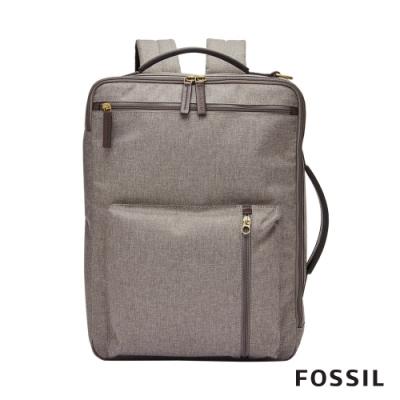 FOSSIL BUCKNER 多功能商務包 (可裝15吋筆電)-灰色