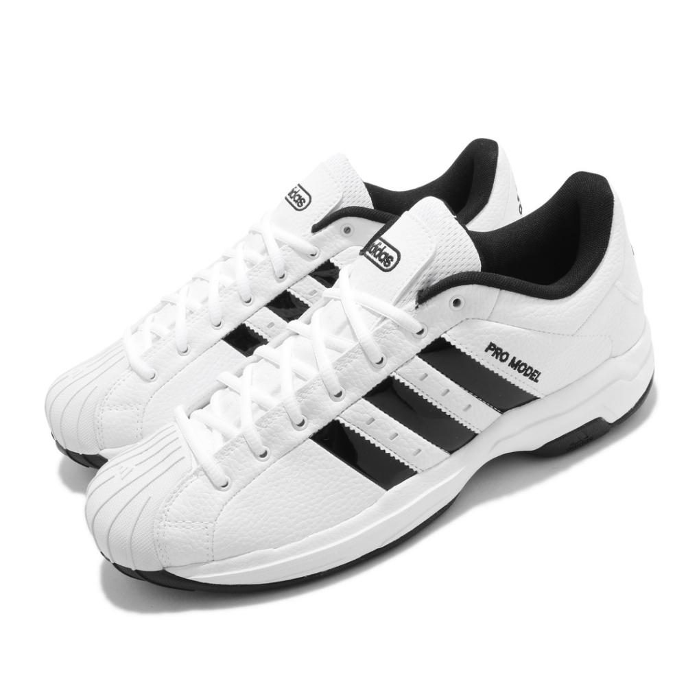 adidas 籃球鞋 Pro Model 2G Low 男女鞋 愛迪達 貝殼頭 復古 街頭 耐磨 情侶鞋 白 黑 FX4981