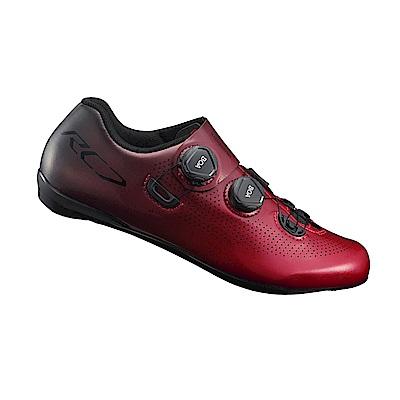 【SHIMANO】RC701 男性公路車競賽級車鞋 寬楦 紅色