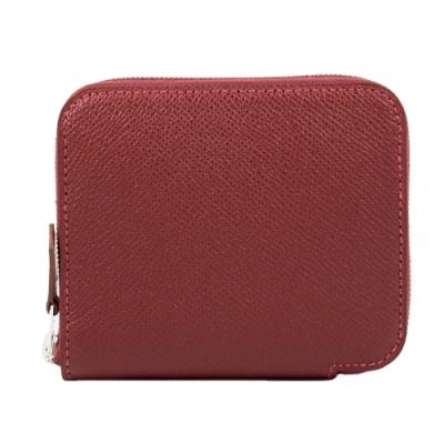 Hermes 絲巾短夾 (Rouge H 愛馬仕紅 x 咬錢虎) Silk'in Compact wallet