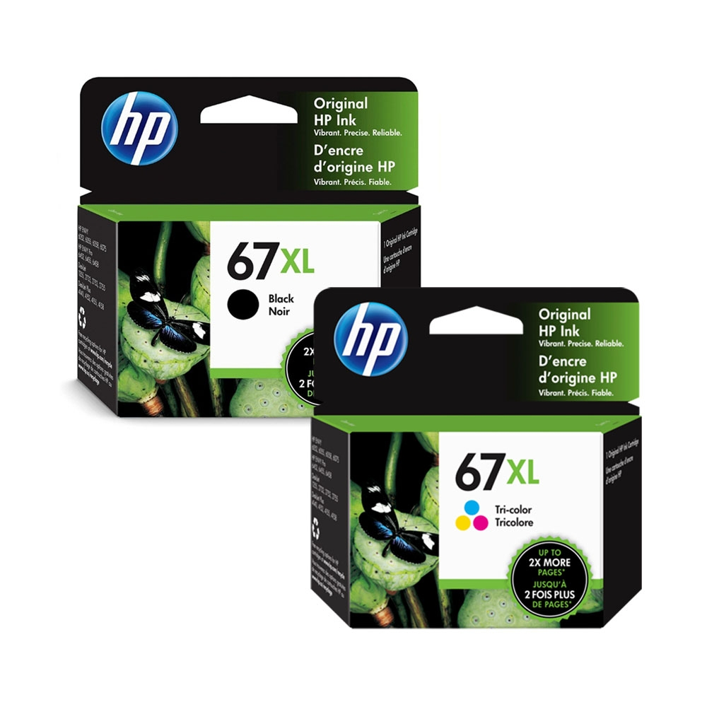HP 67XL(3YM57AA 黑+3YM58AA 彩) 原廠高容量墨水匣(優惠組)