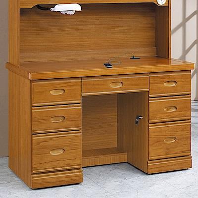 AS-朱莉4.2尺實木書桌下座-127x59x82cm