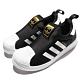 adidas 休閒鞋 Superstar 360 C 襪套 童鞋 愛迪達 三葉草 經典貝殼頭 無鞋帶 黑 白 S32130 product thumbnail 1
