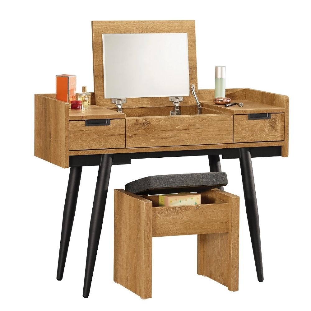 MUNA 摩德納3.3尺掀鏡化妝台/鏡台(含椅)  100X40X80cm