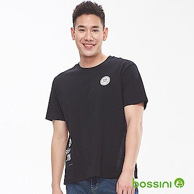 bossini男裝-圓領短袖上衣01黑