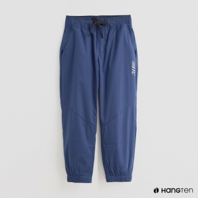 Hang Ten - 童裝 - 腰部鬆緊抽繩休閒長褲 - 藍