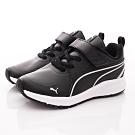 PUMA童鞋 輕量皮質運動鞋款 TH70666-01黑(中小童段)