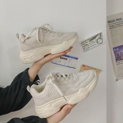 韓國KW美鞋館 明星同款柔美愛戀素色平底鞋-杏