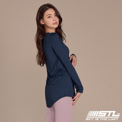 STL yoga ESSENCE LS 韓國瑜珈 運動機能 本質長版 合身蓋臀長袖上衣 丈青/墨水藍