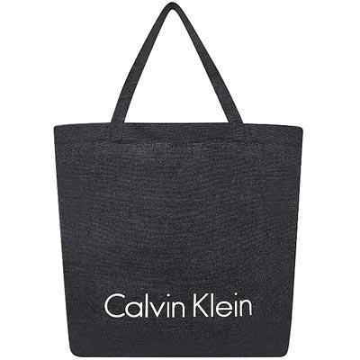 Calvin Klein 黑色可摺疊環保購物袋-大型