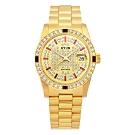 HYUN炫 極極致奢華點綴寶石精品鑽錶-金