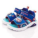 SUPER WINGS LED電燈涼鞋款 NI3801藍(中小童段)