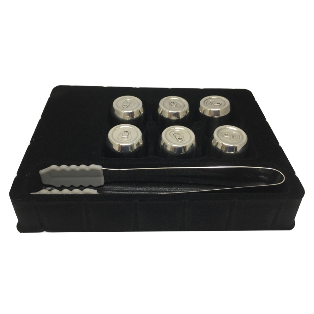 MAGIC CHILL冰晶悅物-頂級304不鏽鋼環保冰塊組(6入+贈送冰夾+收納盒)