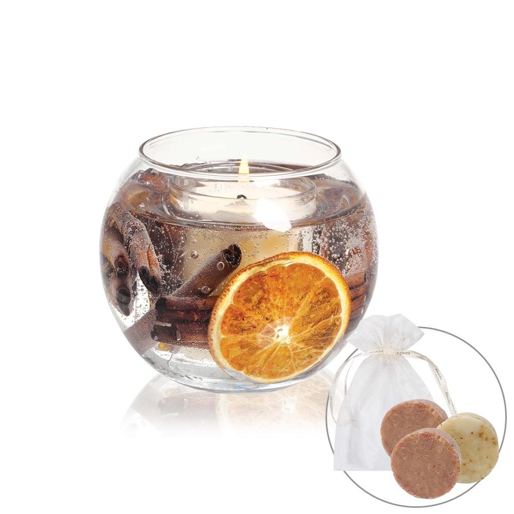 YAHOO獨家★STONEGLOW 柑橘清新魚眼香氛燭獨家組