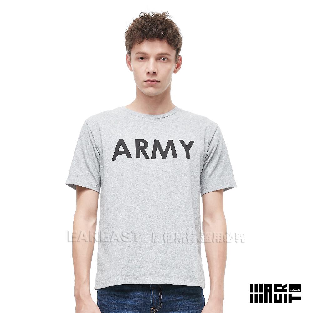 EAR EAST 男款 ARMY印花圓領短袖上衣-灰--動態show