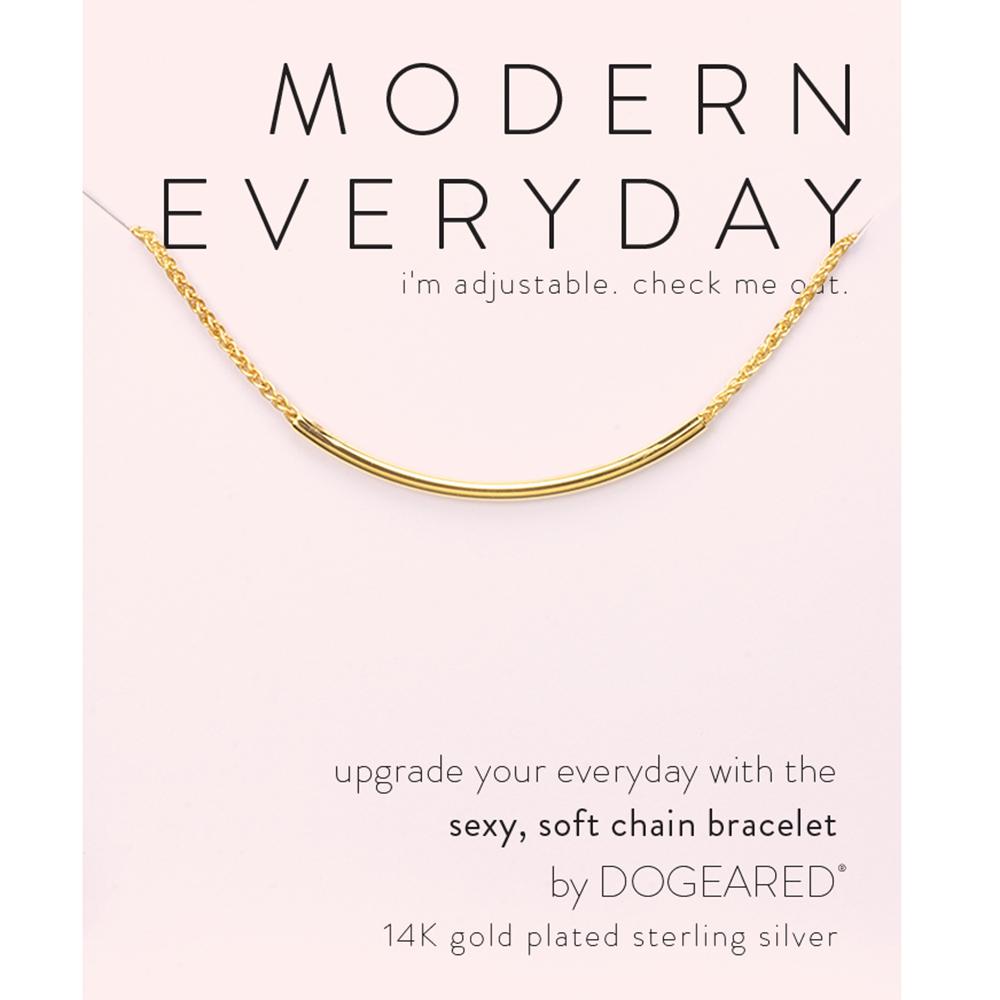 Dogeared modern everyday 平衡骨手鍊 金色 亮面優雅墜 經典流蘇款