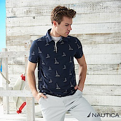 Nautica  帆船圖案短袖POLO衫 -深藍