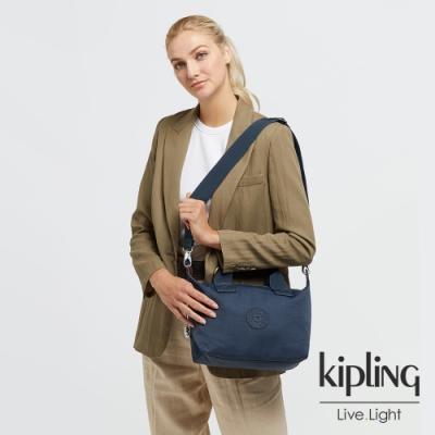 Kipling 北極深海藍簡約手提肩背托特包-KALA MINI