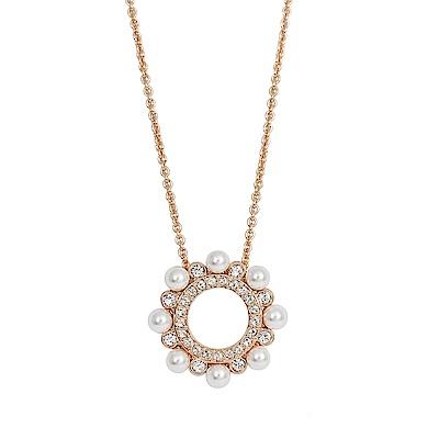 SWAROVSKI 施華洛世奇 MAJOR優雅珍珠水晶玫瑰金項鍊