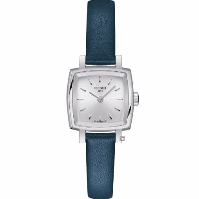 TISSOT天梭 LOVELY SQUAREU優雅時尚女錶(T0581091603100)藍