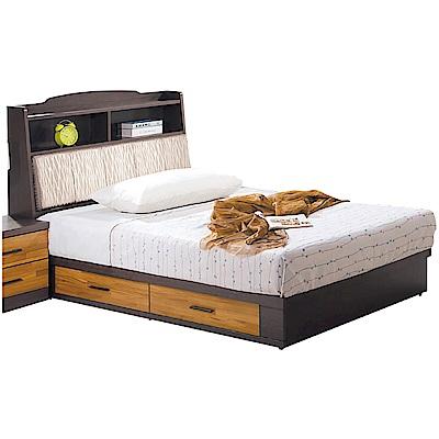 文創集 瓦沙娜3.5尺單人收納床台(床頭+床底+不含床墊)-212x106x107cm免組