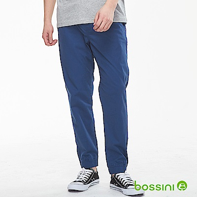 bossini男裝-輕鬆彈性束口長褲01綠松色