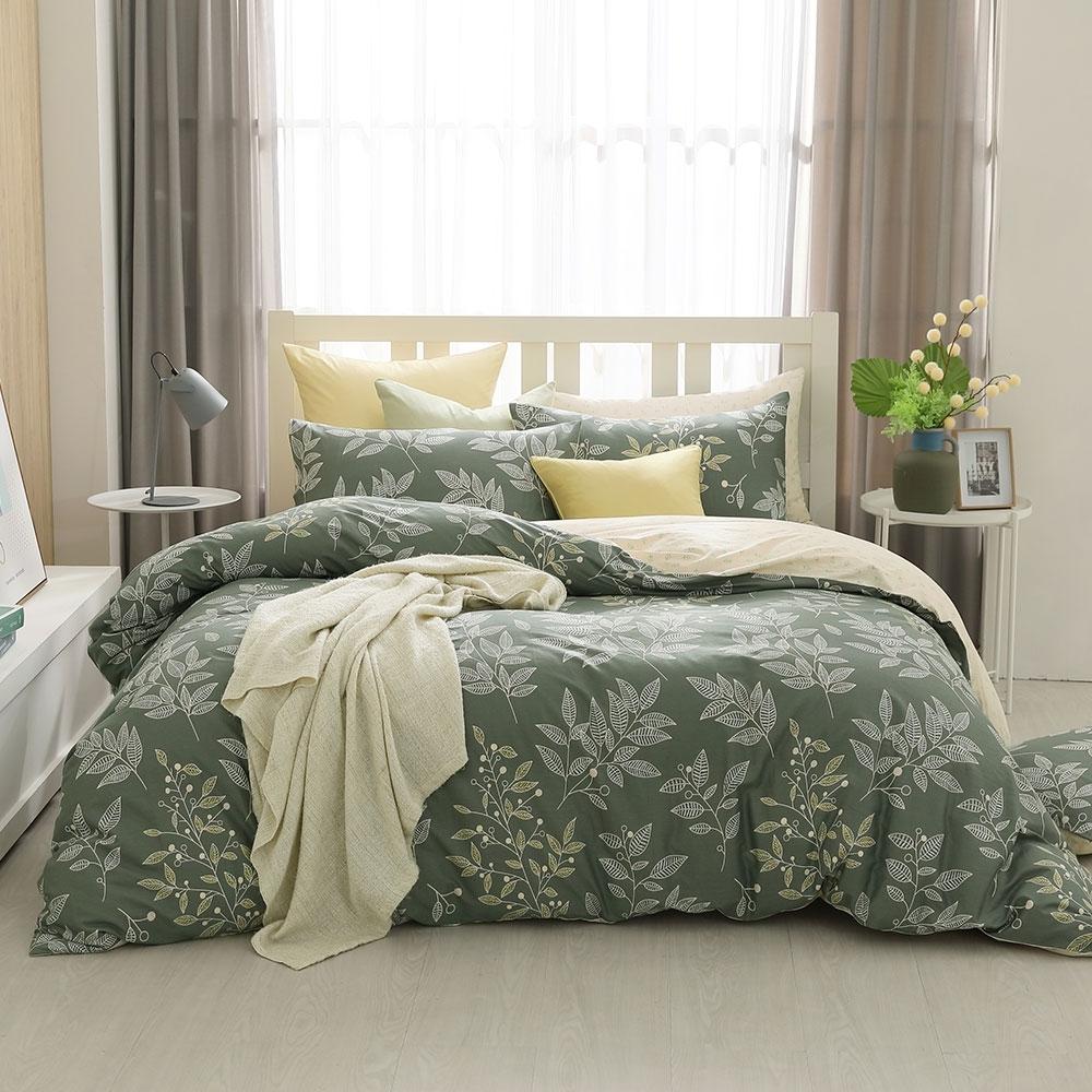 鴻宇 100%精梳棉 莫凡比 雙人四件式兩用被套床包組