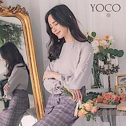 東京著衣-yoco 優雅歐膩珍珠點綴袖口綁結雪紡上衣-S.M.L(共二色)