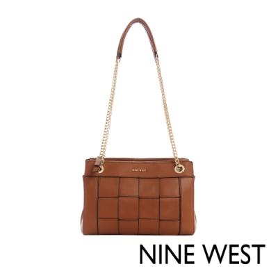 NINE WEST ELLIE編織鍊帶包-焦糖棕(116811)
