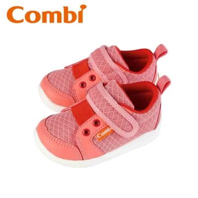 日本Combi童鞋 香榭巴黎幼兒機能包鞋-玫瑰粉