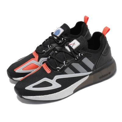 adidas 慢跑鞋 ZX 2K BOOST 運動 男女鞋 海外限定 愛迪達 緩震 NASA 太空 黑 銀 FY5724