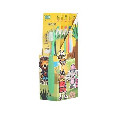 韓國【Bristik】 魔法棒 進階兒童抗菌極細緻軟毛牙刷(5入)