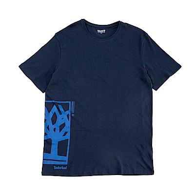 Timberland 男款黑鳶尾色LOGO T恤 | A1N91019