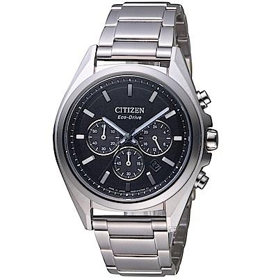 CITIZEN星辰強悍時計鈦金屬腕錶(CA4390-55E)銀x黑