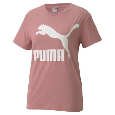 PUMA-女性流行系列Classics短袖T恤-煙霧粉-歐規