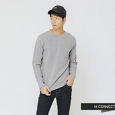 H:CONNECT 韓國品牌 男裝-立體感小口袋上衣-灰