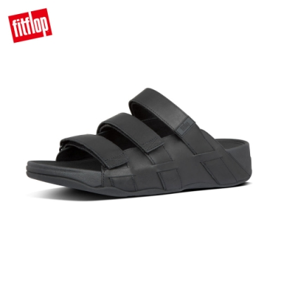 FitFlop ETHAN SLIDES 可調整式魔鬼氈涼鞋 靚黑色