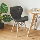 完美主義 復古風皮革餐椅/楓木椅/書桌椅(3色)