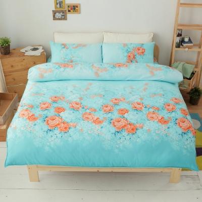 Goelia 花影舞動 加大四件式鋪棉兩用被床包組