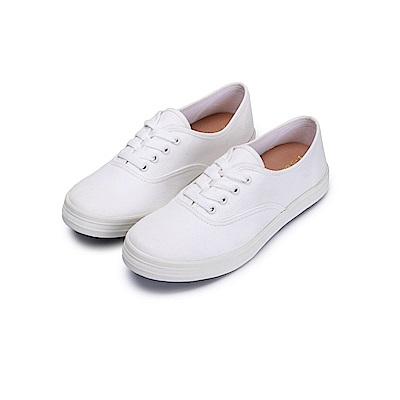 BuyGlasses 學院風三色休閒布鞋-米