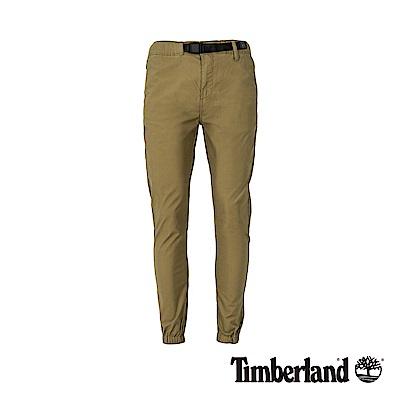 Timberland 男款橄欖綠寬鬆錐形彈力束口長褲|A1OIV