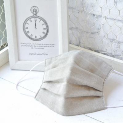 TEMARIYA 日本製 可水洗手作立體口罩M(素色)-淺灰